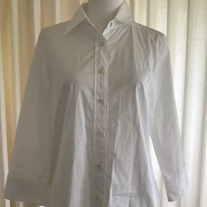 J. Crew Button Down White Cotton Shirt Women's